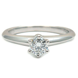 Tiffany & Co. 0.26ct Platinum Diamond Solitaire Ring