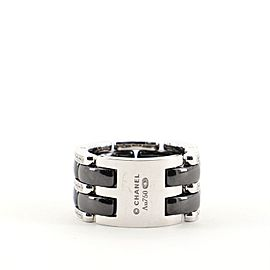 Chanel Ultra Link Ring 18K White Gold, Diamond and Hematite Large