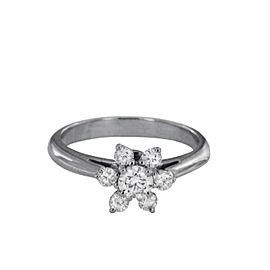 Tiffany & Co. Platinum 0.50ct VS-2 G Color Flower Diamond Ring Size 4.5