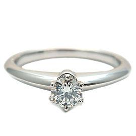 Tiffany & Co. 0.24ct Platinum Diamond Solitaire Ring
