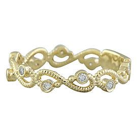0.15 Carat 14K Yellow Gold Diamond Ring