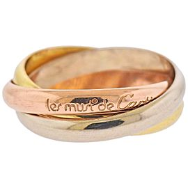 Cartier Trinity Tri Color Gold Rolling Band Ring