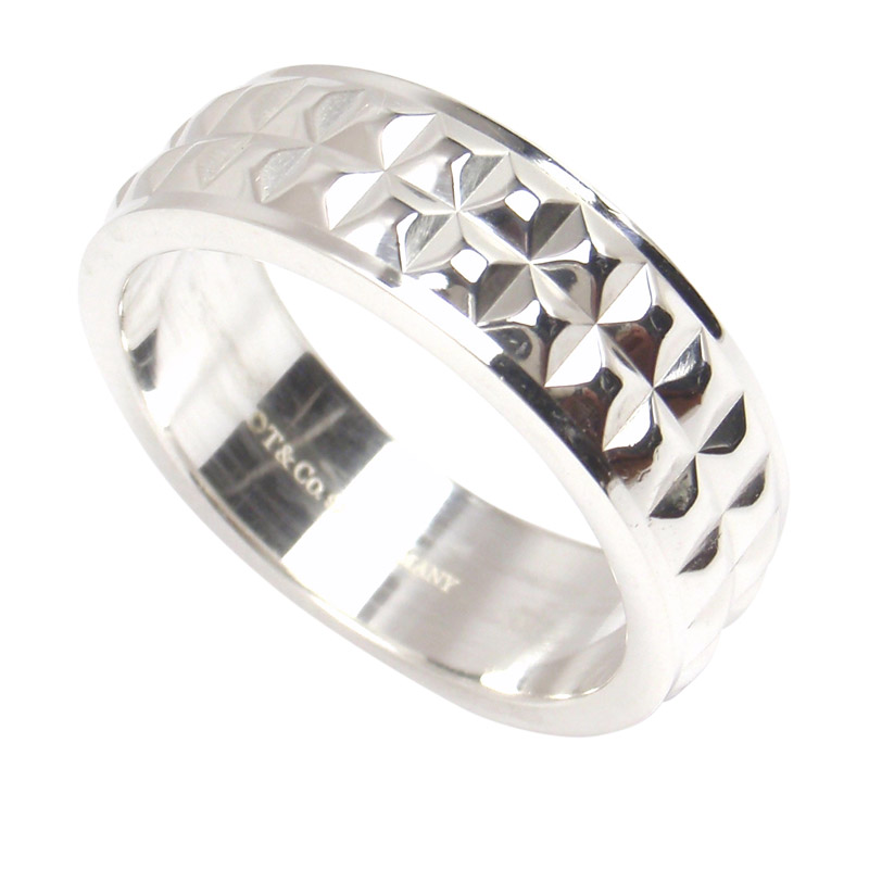 420b7d358ea1f Tiffany & Co. Sterling Silver Moderne Mens Ring Size 10