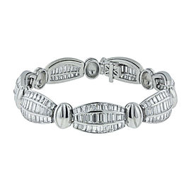 18K White Gold with 22ct. Diamond Bracelet