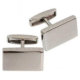 BVLGARI 925 Sterling Silver Simple Cufflinks
