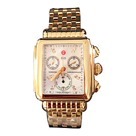 Michele Deco MW06P00A9046 Gold Plated and Diamond 33mm Women Quartz Watch