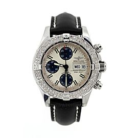 Breitling Superocean Stainless Steel & 2ct Diamond Mens Watch