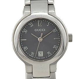 GUCCI 8900L Gray Dial Date SS Quartz Ladies Watch