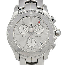 TAG HEUER Link CJ1111.BA0576 Chronograph Silver Dial Quartz Men's Watch