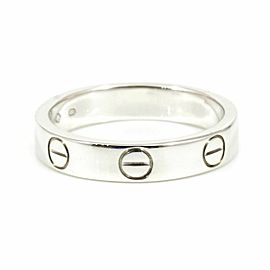 CARTIER 18K White Gold Mini Love Band Ring CHAT-113