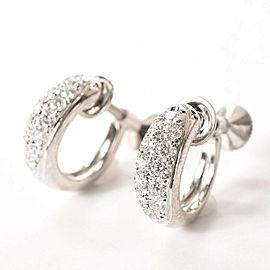 MIKIMOTO 18k white Gold Diamond Earring