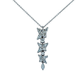 Tiffany & Co. Victoria Platinum with 2.12ctw Diamond Drop Necklace
