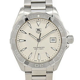 TAG HEUER Aquaracer WAY1111 White Dial Stainless Steel Quartz Men's Watch