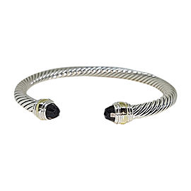 David Yurman Cable Classic Sterling Silver and 14K Yellow Gold with Black Onyx Bracelet