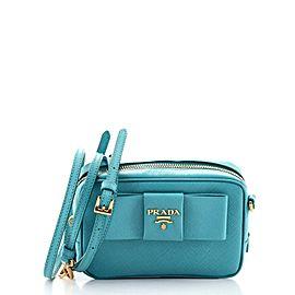 Prada Bow Camera Crossbody Bag Saffiano Leather Mini