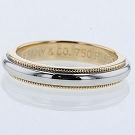 TIFFANY & Co. platinum/18k yellow Gold Milgrain band Ring