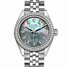 Rolex Datejust Stainless Steel and MOP Dial 36mm Mens Watch