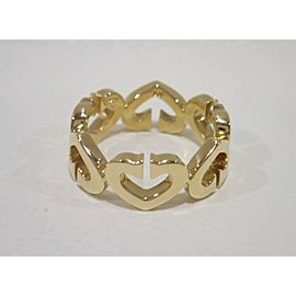 Cartier C Heart Ring 18K Yellow Gold Size 5.5