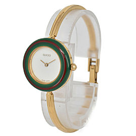 GUCCI Change bezel 11/12.2 White Dial Quartz Ladies Watch