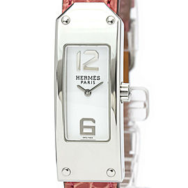 Polished HERMES Kelly II Double Tour Steel Quartz Ladies Watch KT1.210