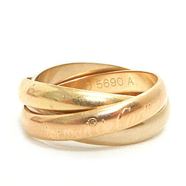 Cartier 18k Yellow Gold Trinity Three Color Ring size 53 / US 6.5 TBRK-335