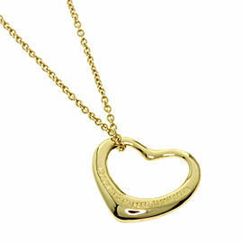 TIFFANY & Co. 18K Yellow Gold Open heart Necklace