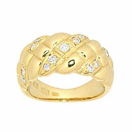NINA RICCI 18K Yellow gold Diamond Ring
