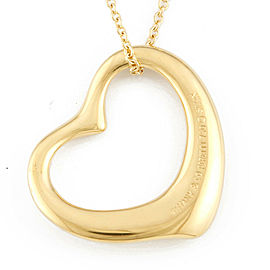 TIFFANY&Co. 18K yellow Gold Open heart Necklace CHAT-361