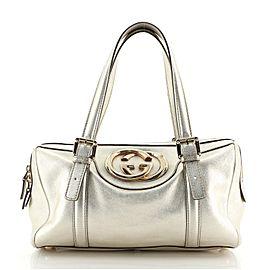 Gucci Britt Boston Duffle Bag Leather Small