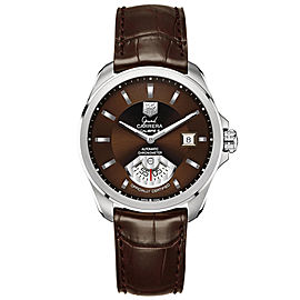 Tag Heuer Grand Carrera Stainless Steel & Leather 40mm Watch