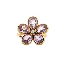 Tiffany & Co. Sparklers Flower Ring 18K Rose Gold with Amethyst and Diamond