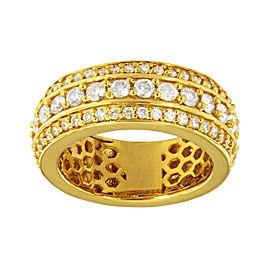 14K Yellow Gold Diamond Ring Size 10