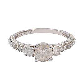 14K White Gold Diamond Ring Size 7.5
