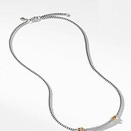 David Yurman Petite Helena Station Necklace with 18K Yellow Gold and Diamonds