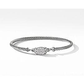David Yurman Petite Wheaton Bracelet with Diamonds, 3mm