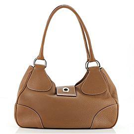 Prada Buckle Flap Shoulder Bag Vitello Daino Medium