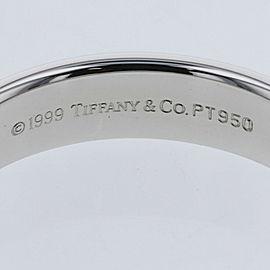 TIFFANY & Co. Platinum Lucida band Ring TBRK-701