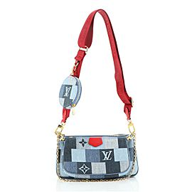 Louis Vuitton Multi Pochette Accessoires Damier and Monogram Patchwork Denim