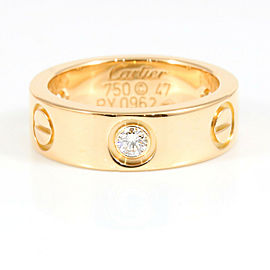 CARTIER 18K Rose Gold Half Diamond Love Ring CHAT-2