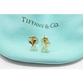 "Tiffany & Co. 18k Yellow Gold Paloma Picasso ""X"" Mini Kiss Stud Earrings"
