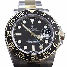 Rolex GMT Master II 116713 18K Yellow Gold & Stainless Steel Ceramic 40mm Mens Watch 2014