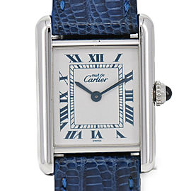 CARTIER Mast Tank SM Ref.1614 Silver 925/Leather Quartz Women's Watch