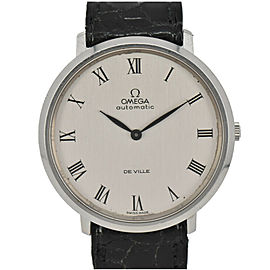 OMEGA de vill cal.711 Silver Dial SS/Leather Automatic Men's Watch