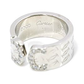 Cartier 18K white gold C2 Diamond Ring RCB-111