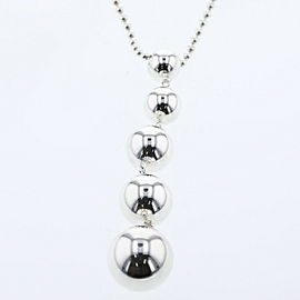 TIFFANY & Co Silver925 Ball 5P Necklace TBRK-515