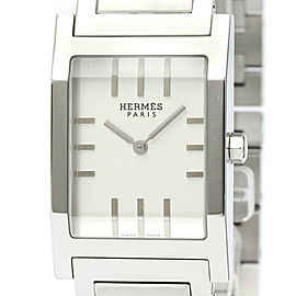 HERMES Tandem Stainless Steel Quartz Mens Watch TA1.710