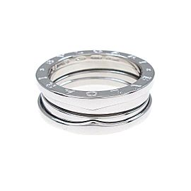 BVLGARI 18K White Gold B.zero1 3 Band Ring TkM-325