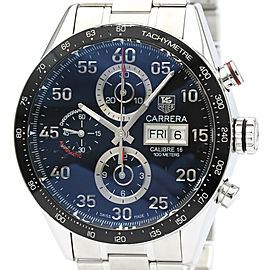 TAG HEUER Stainless steel Carrera Calibre 16 Chronograph Watch HK-2028