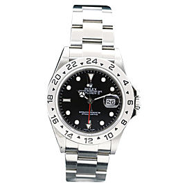 Rolex Explorer II 16570 Stainless Steel Black Dial Date 40mm Mens Watch
