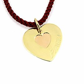 Piaget 18K Yellow Rose Gold W Heart Pendant Necklace CHAT-595